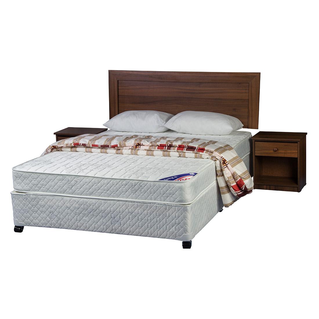 Cama americana spring iii 2 plazas textil maderas asturias - Ikea textil cama ...